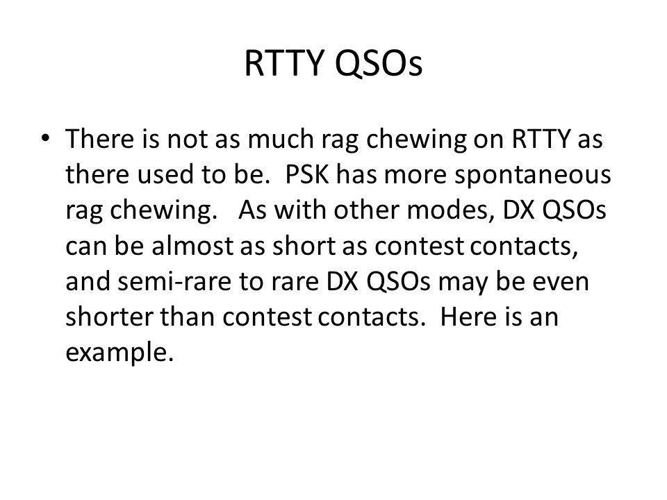 RTTY QSOs