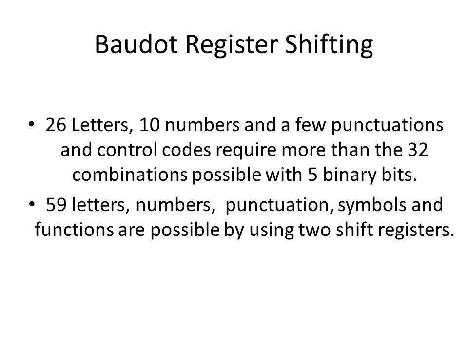Baudot Register Shifting