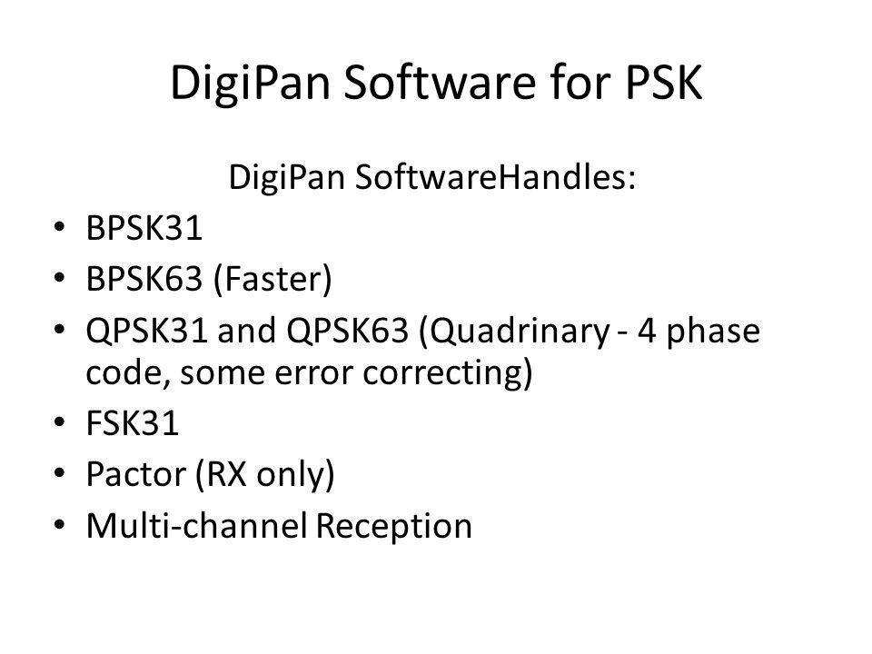 DigiPan Software for PSK