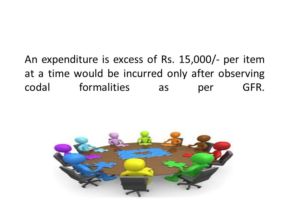 An expenditure is excess of Rs