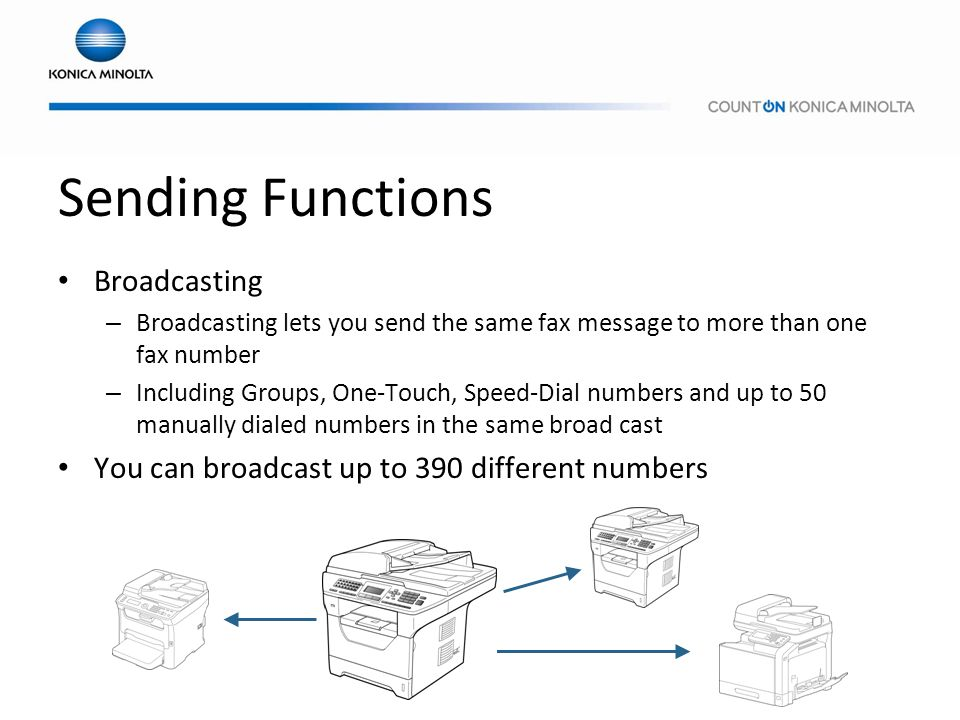 Sending Functions Broadcasting