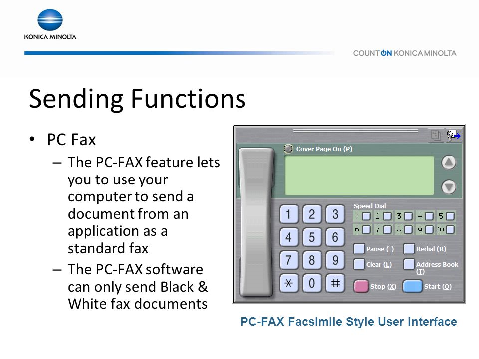Sending Functions PC Fax