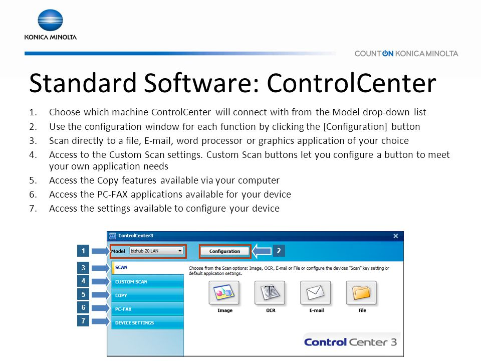 Standard Software: ControlCenter