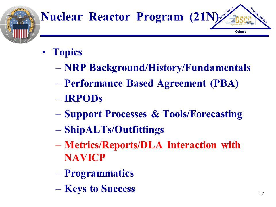 Nuclear Reactor Program (21N)