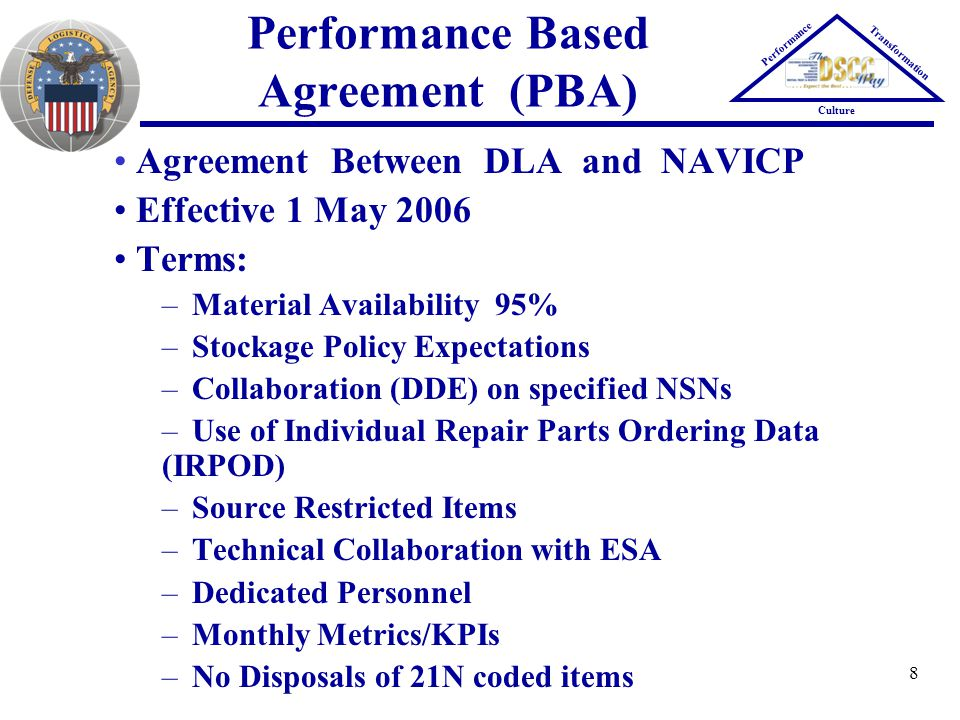 Performance Based Agreement (PBA)