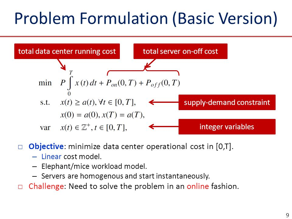 Problem Formulation (Basic Version)