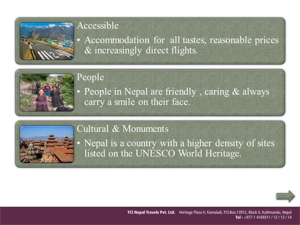 Accessible Accommodation for all tastes, reasonable prices & increasingly direct flights. People.