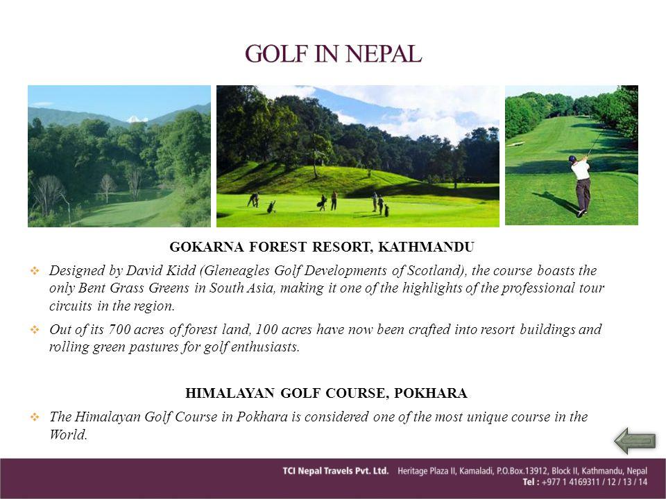 GOLF IN NEPAL GOKARNA FOREST RESORT, KATHMANDU