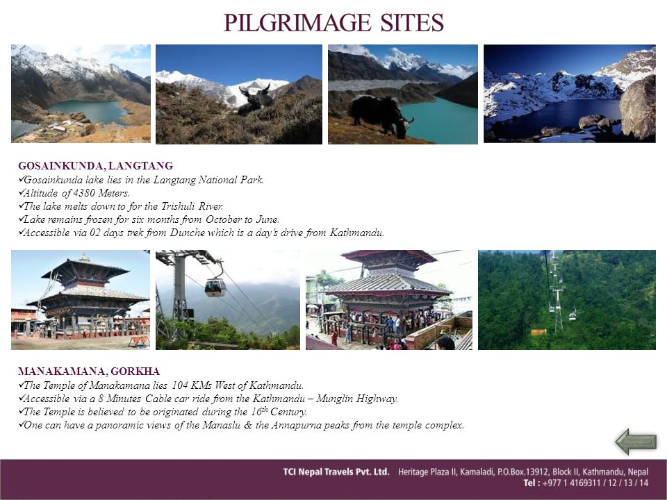 PILGRIMAGE SITES GOSAINKUNDA, LANGTANG