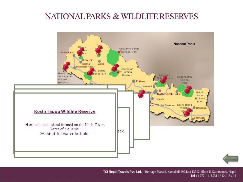 NATIONAL PARKS & WILDLIFE RESERVES