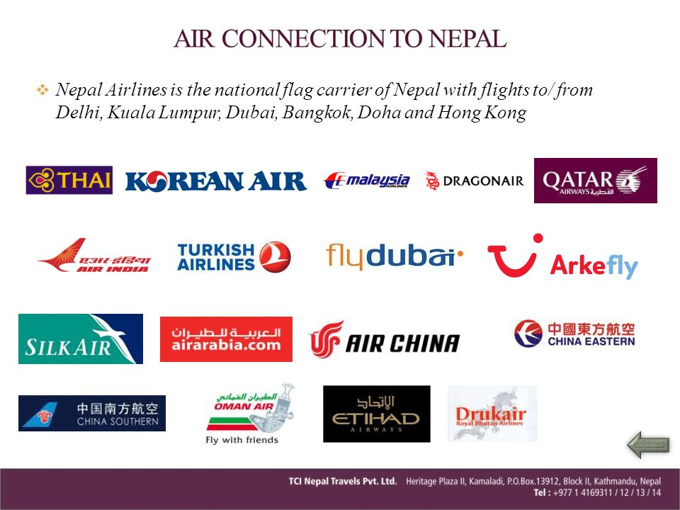 AIR CONNECTION TO NEPAL