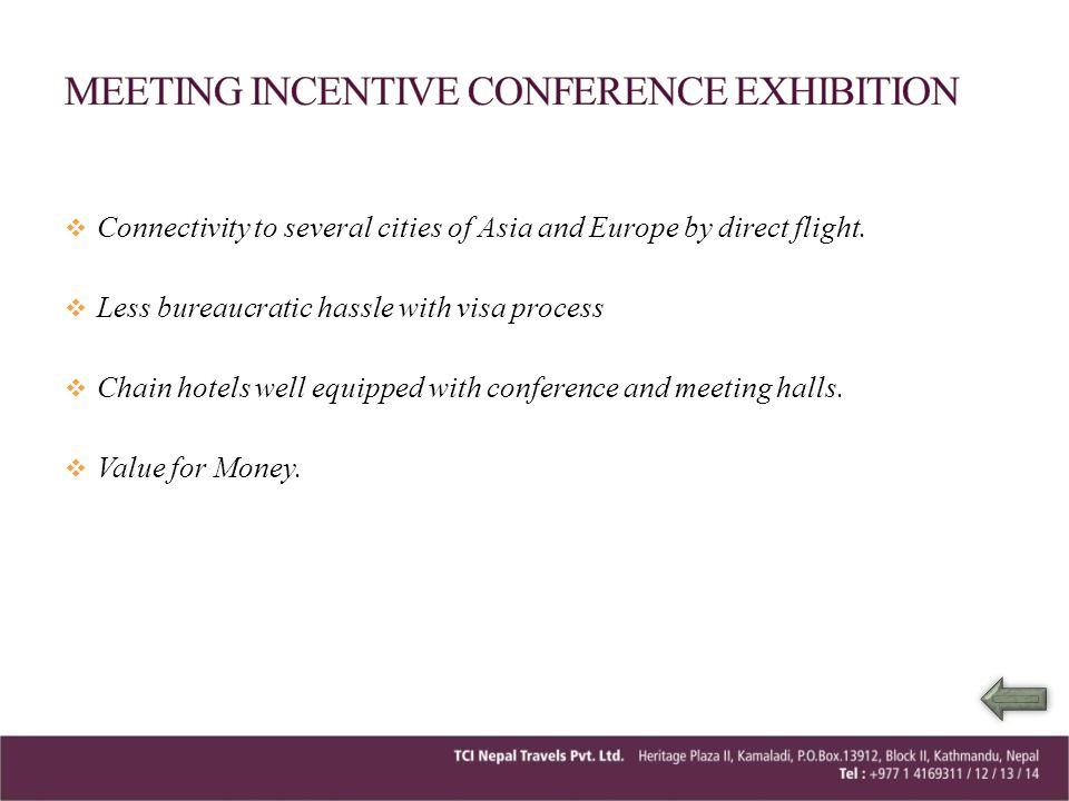 MEETING INCENTIVE CONFERENCE EXHIBITION