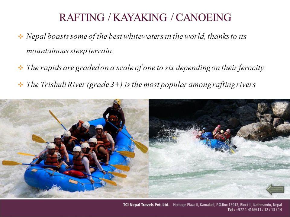 RAFTING / KAYAKING / CANOEING