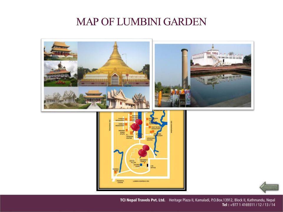 MAP OF LUMBINI GARDEN