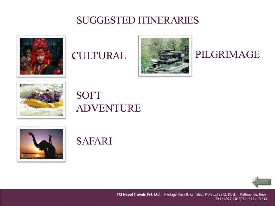 SUGGESTED ITINERARIES