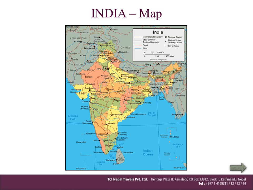 INDIA – Map