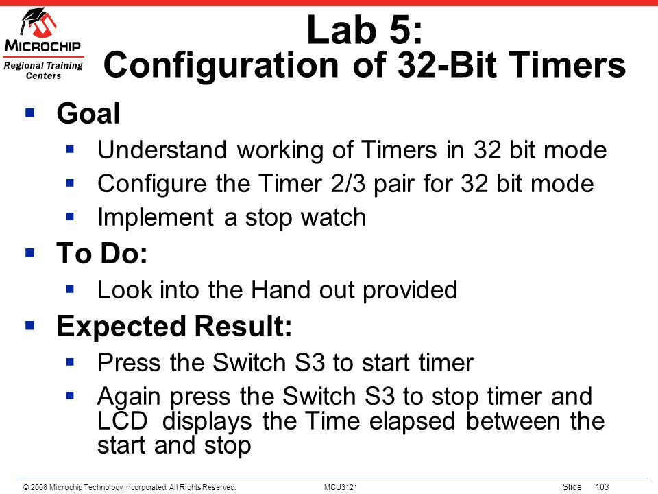 Lab 5: Configuration of 32-Bit Timers