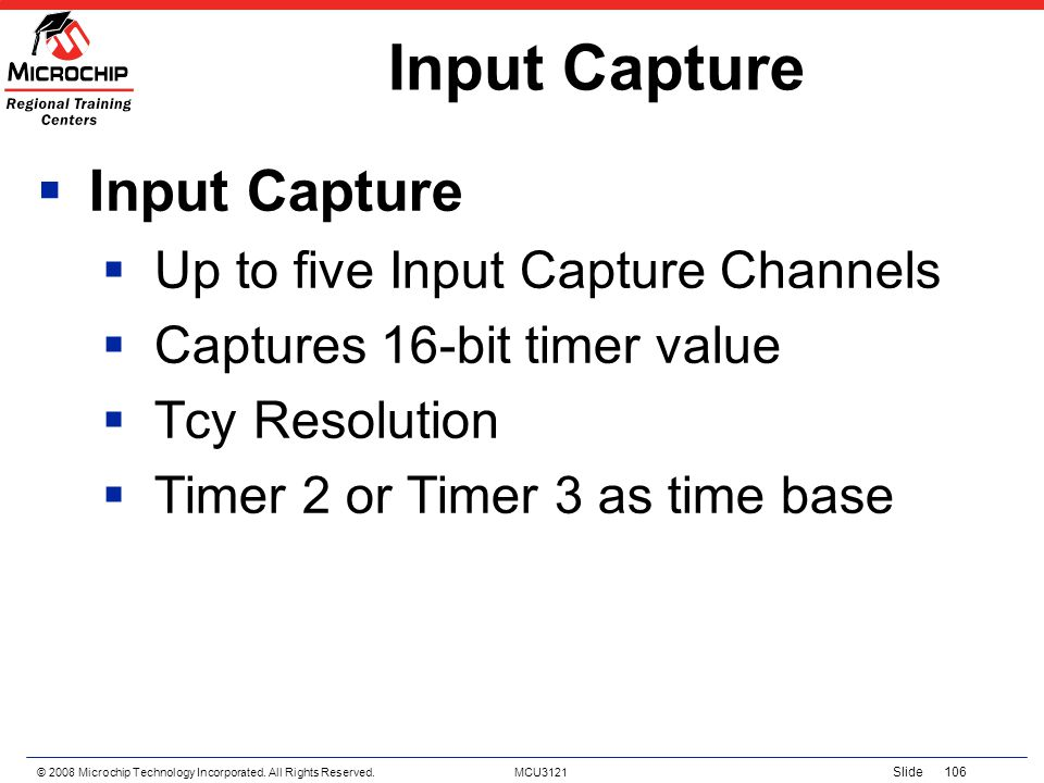 Input Capture Input Capture Up to five Input Capture Channels