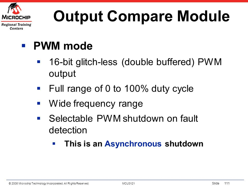 Output Compare Module PWM mode