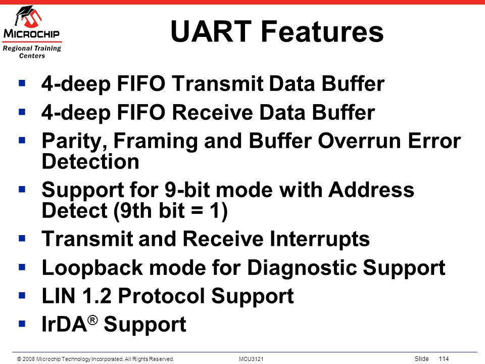 UART Features 4-deep FIFO Transmit Data Buffer