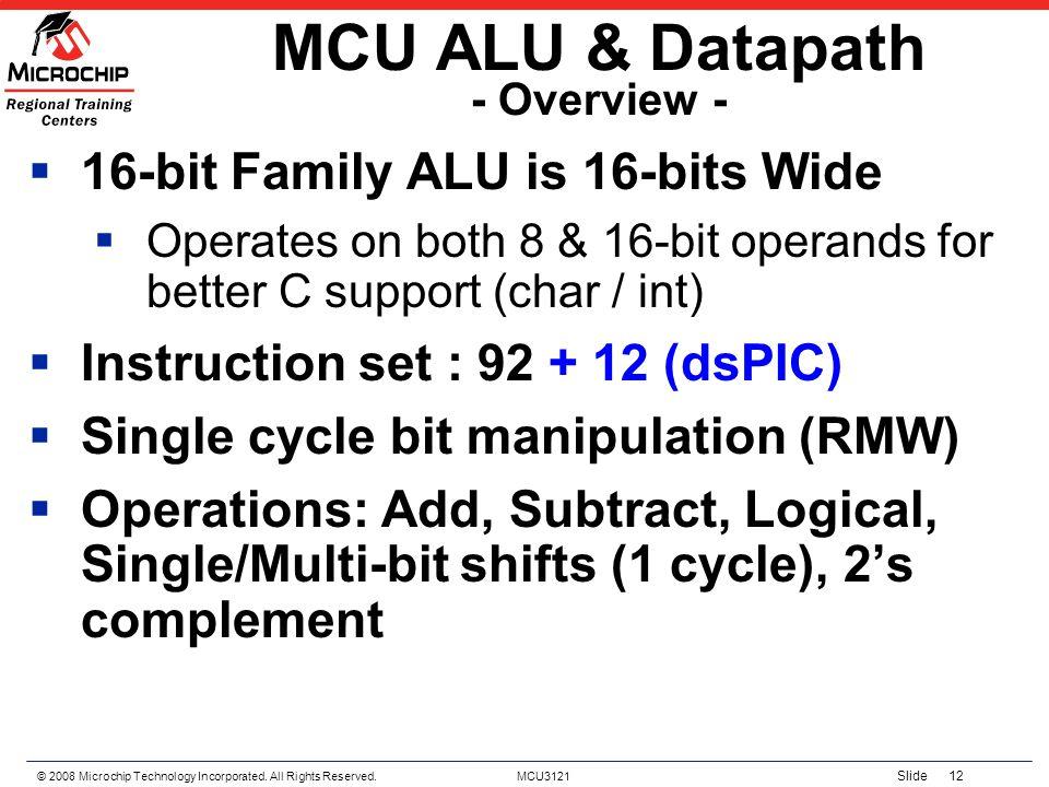MCU ALU & Datapath - Overview -