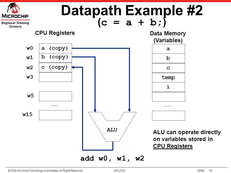 Datapath Example #2 (c = a + b;)