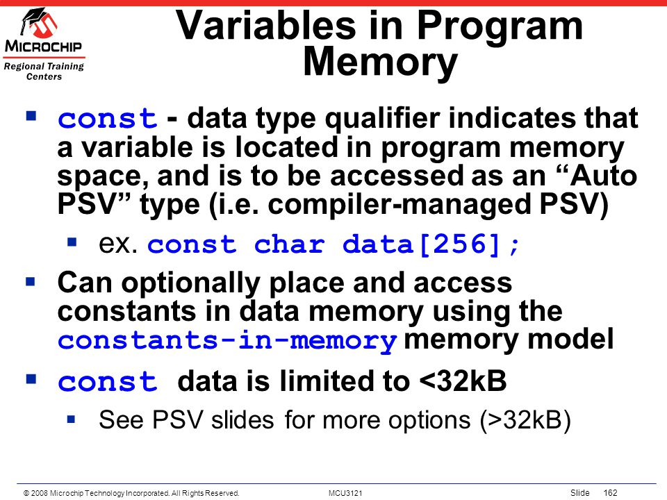 Variables in Program Memory