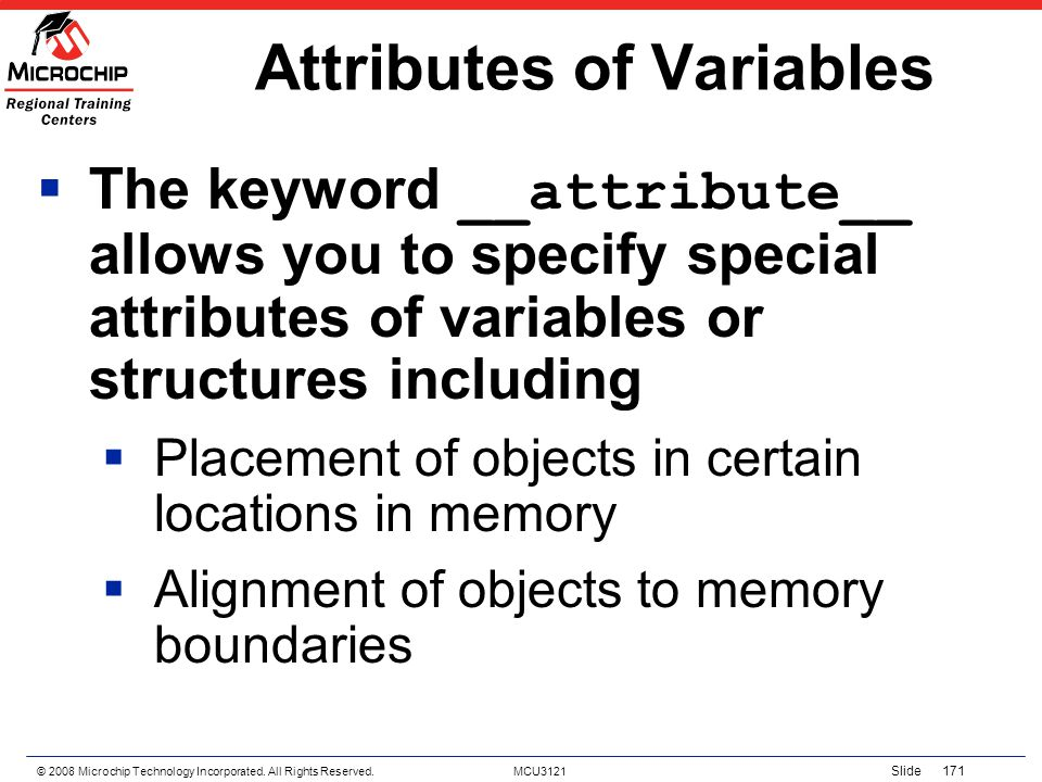 Attributes of Variables