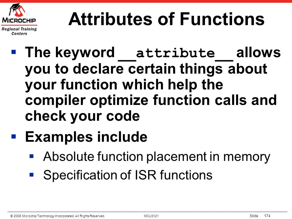 Attributes of Functions