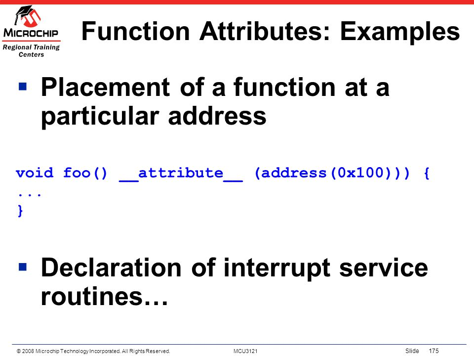 Function Attributes: Examples
