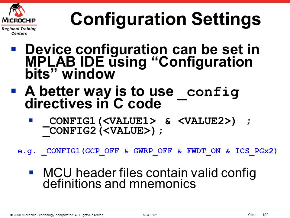 Configuration Settings