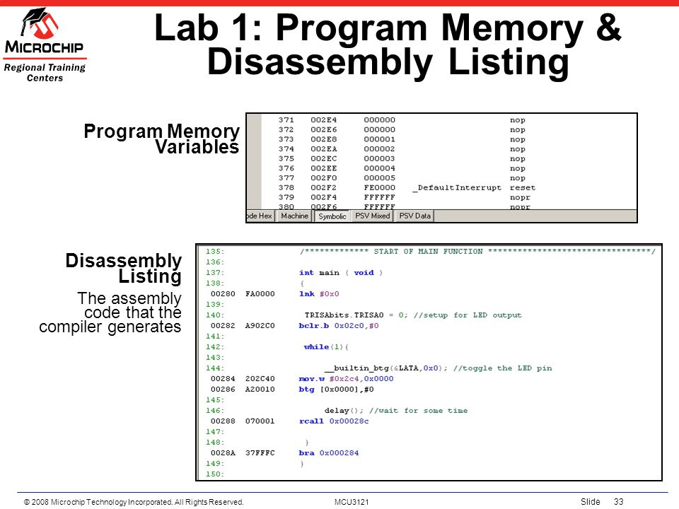 Lab 1: Program Memory & Disassembly Listing