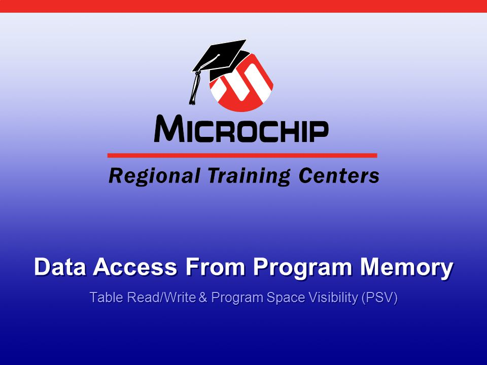 Data Access From Program Memory