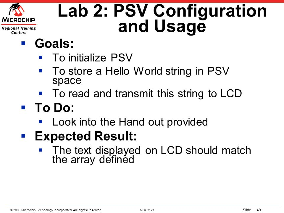 Lab 2: PSV Configuration and Usage