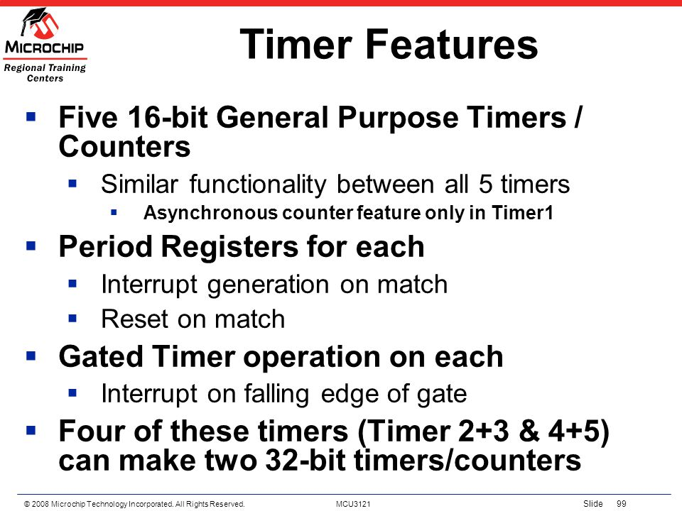 Timer Features Five 16-bit General Purpose Timers / Counters
