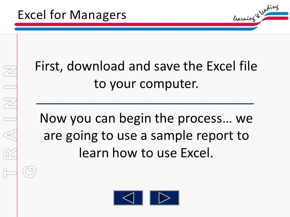 First, download and save the Excel file to your computer.