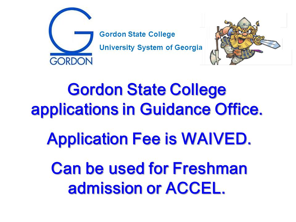 Gordon State College applications in Guidance Office.