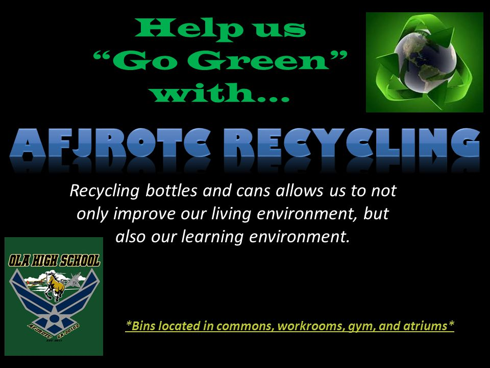 Help us Go Green with…