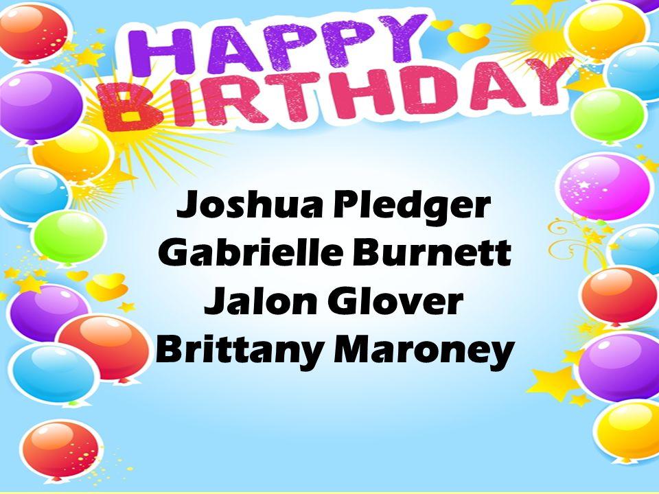 Joshua Pledger Gabrielle Burnett Jalon Glover Brittany Maroney