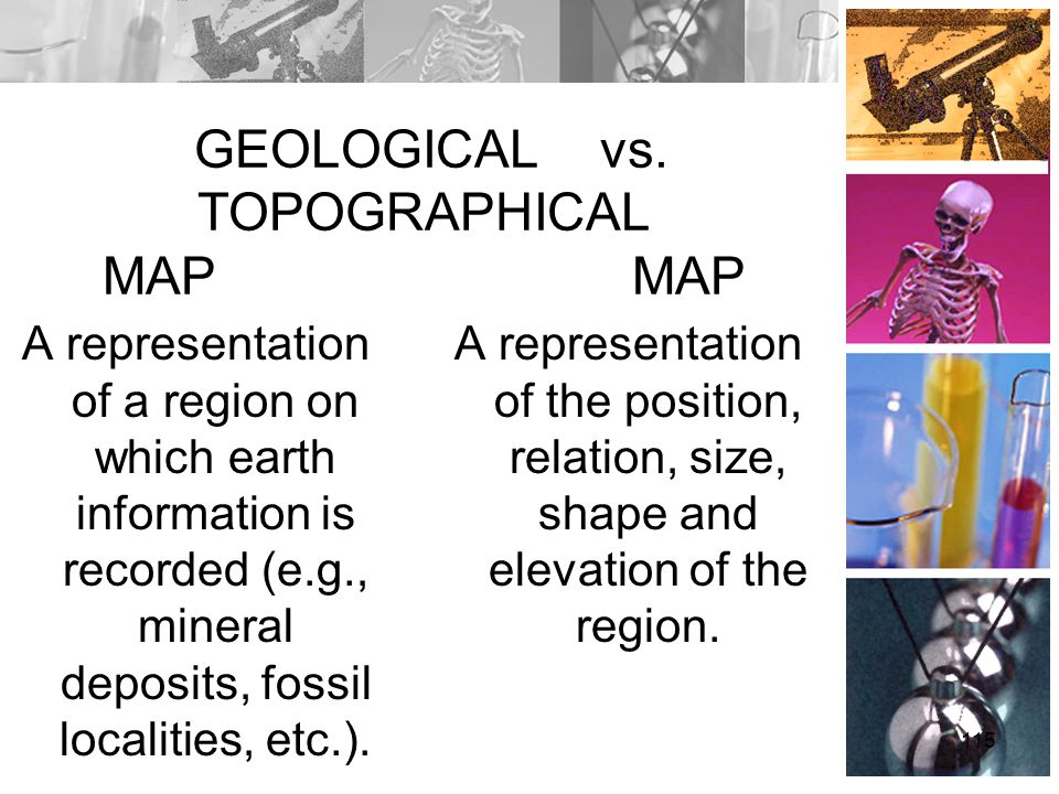 GEOLOGICAL vs. TOPOGRAPHICAL MAP MAP