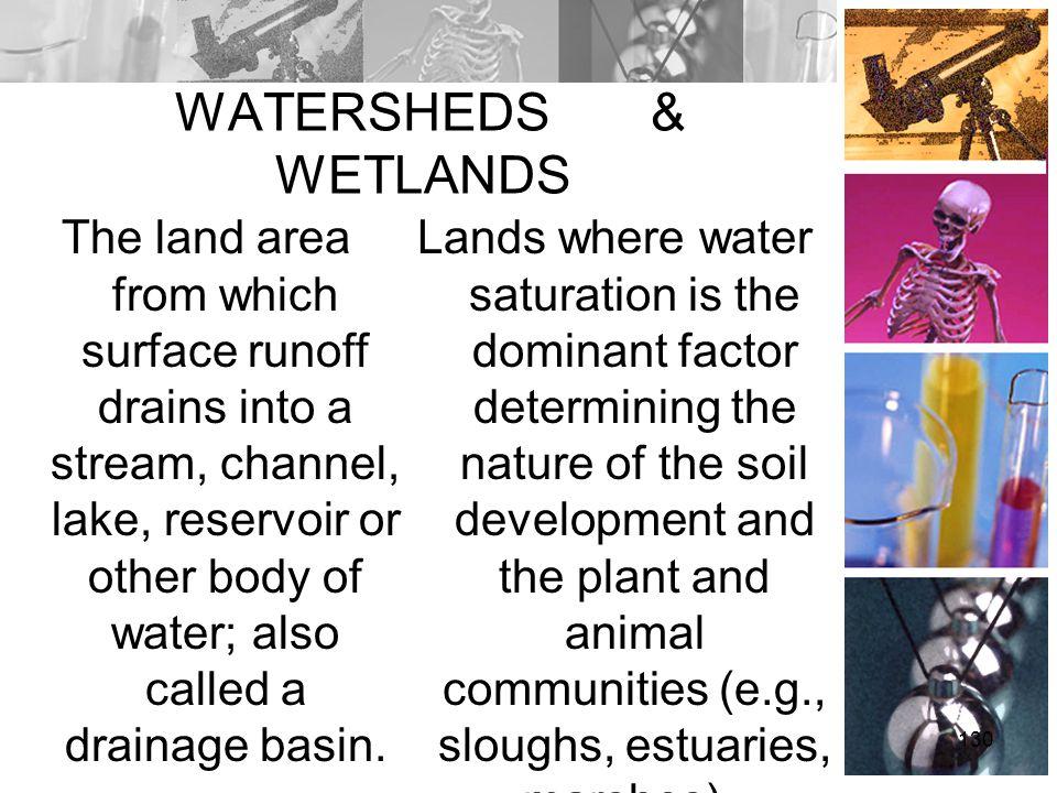 WATERSHEDS & WETLANDS