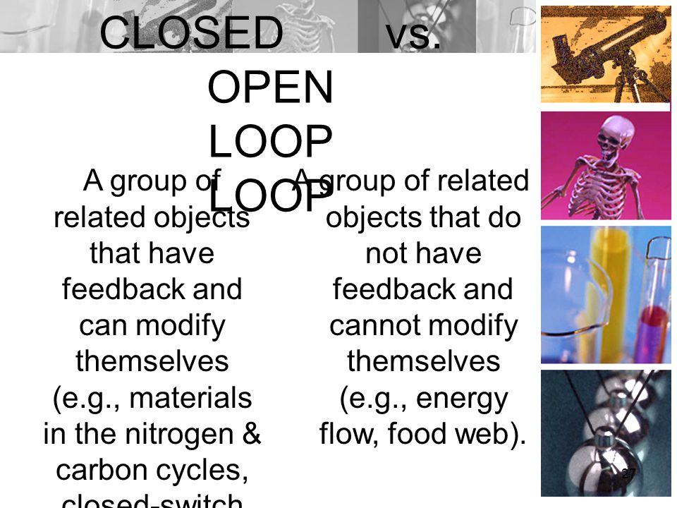 CLOSED vs. OPEN LOOP LOOP