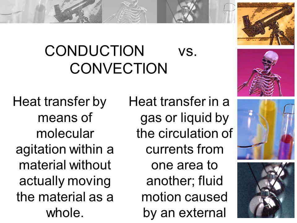 CONDUCTION vs. CONVECTION
