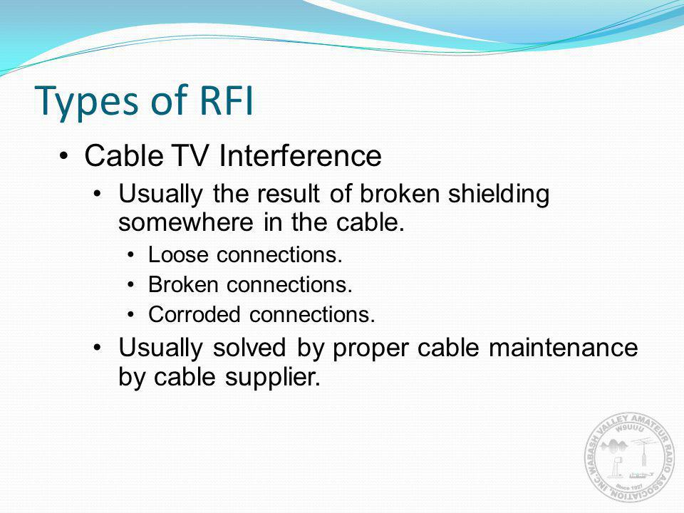 Types of RFI Cable TV Interference