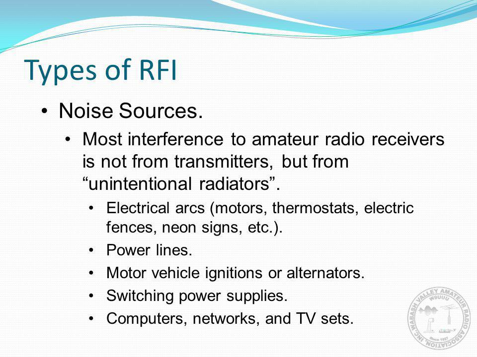 Types of RFI Noise Sources.