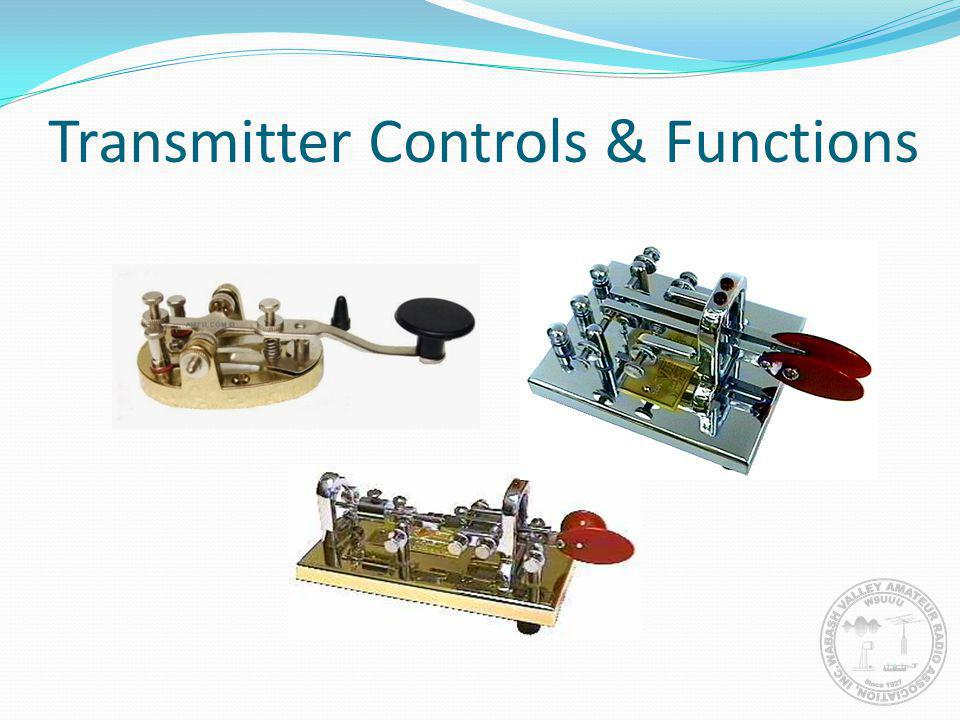 Transmitter Controls & Functions