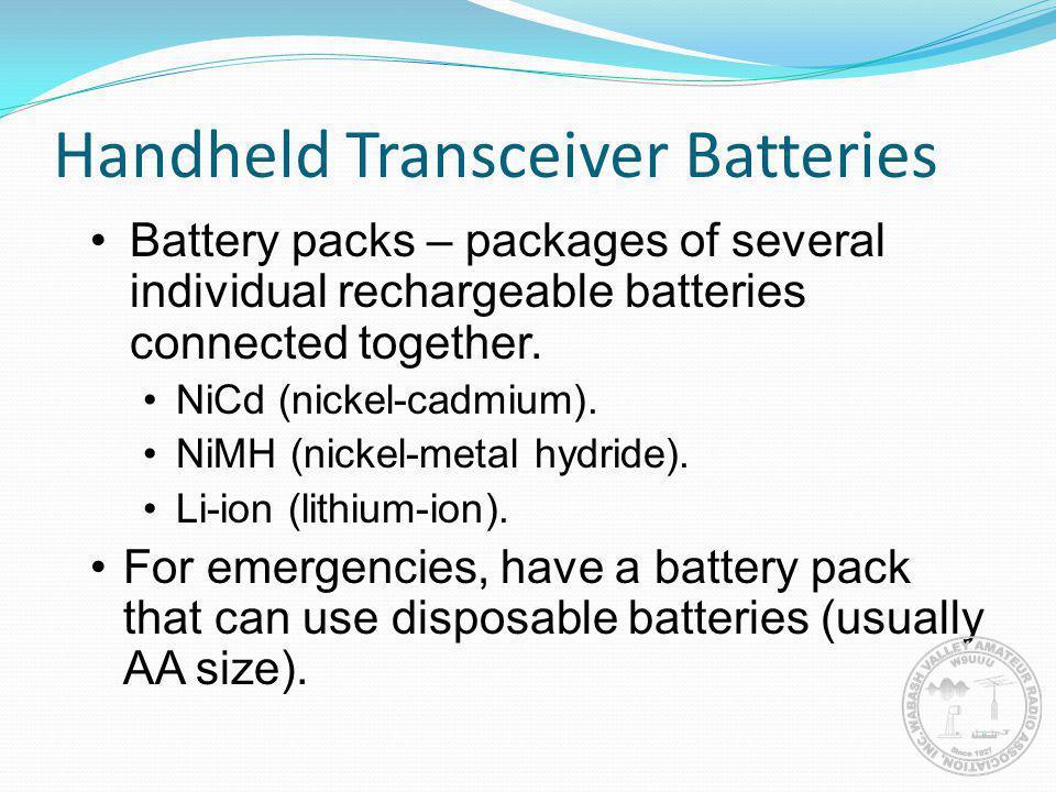Handheld Transceiver Batteries