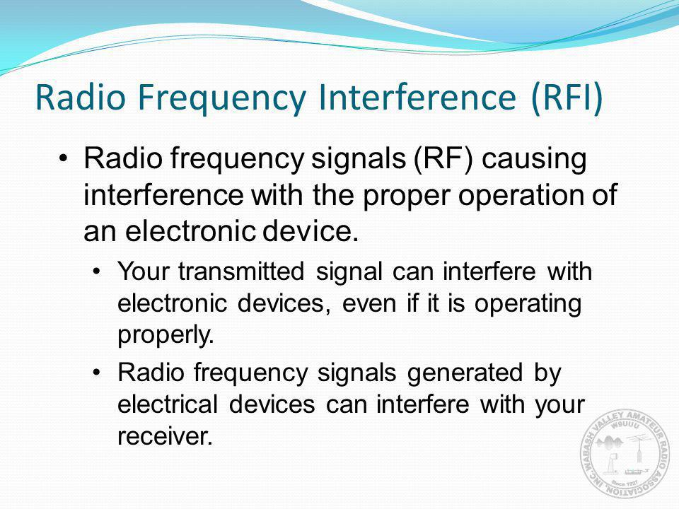 Radio Frequency Interference (RFI)