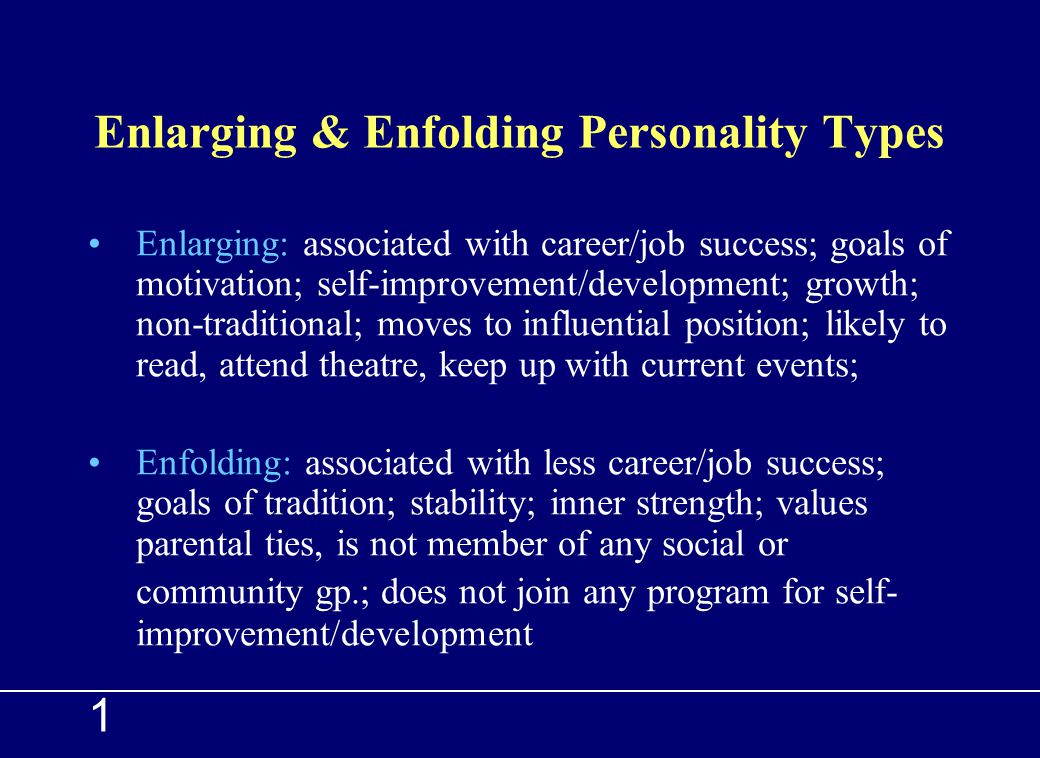 Enlarging & Enfolding Personality Types