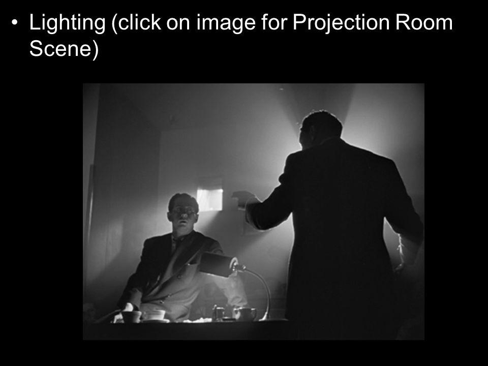 Lighting (click on image for Projection Room Scene)